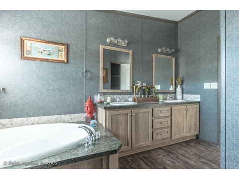 Master bath - The Super Saver Benbrook SA28644B by Palm Harbor Homes