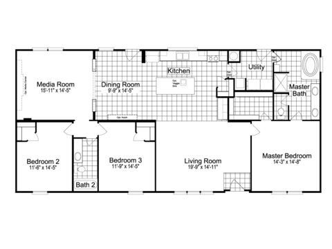 >The Landrace II MP30643L Floor Plan