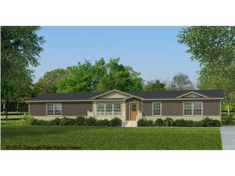 The Canyon Bay II: Optional Ridgeline Exterior Elevation, artist's rendering - including a 3rd dormer application, lap siding wainscot, exterior accent and dormer accent, deluxe exterior coach light, opt. woodgrain front door and opt. gridded windows