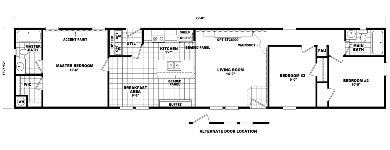 View model phs7216d floor plan for a 1125 sq ft palm for 1125 sq ft floor plan