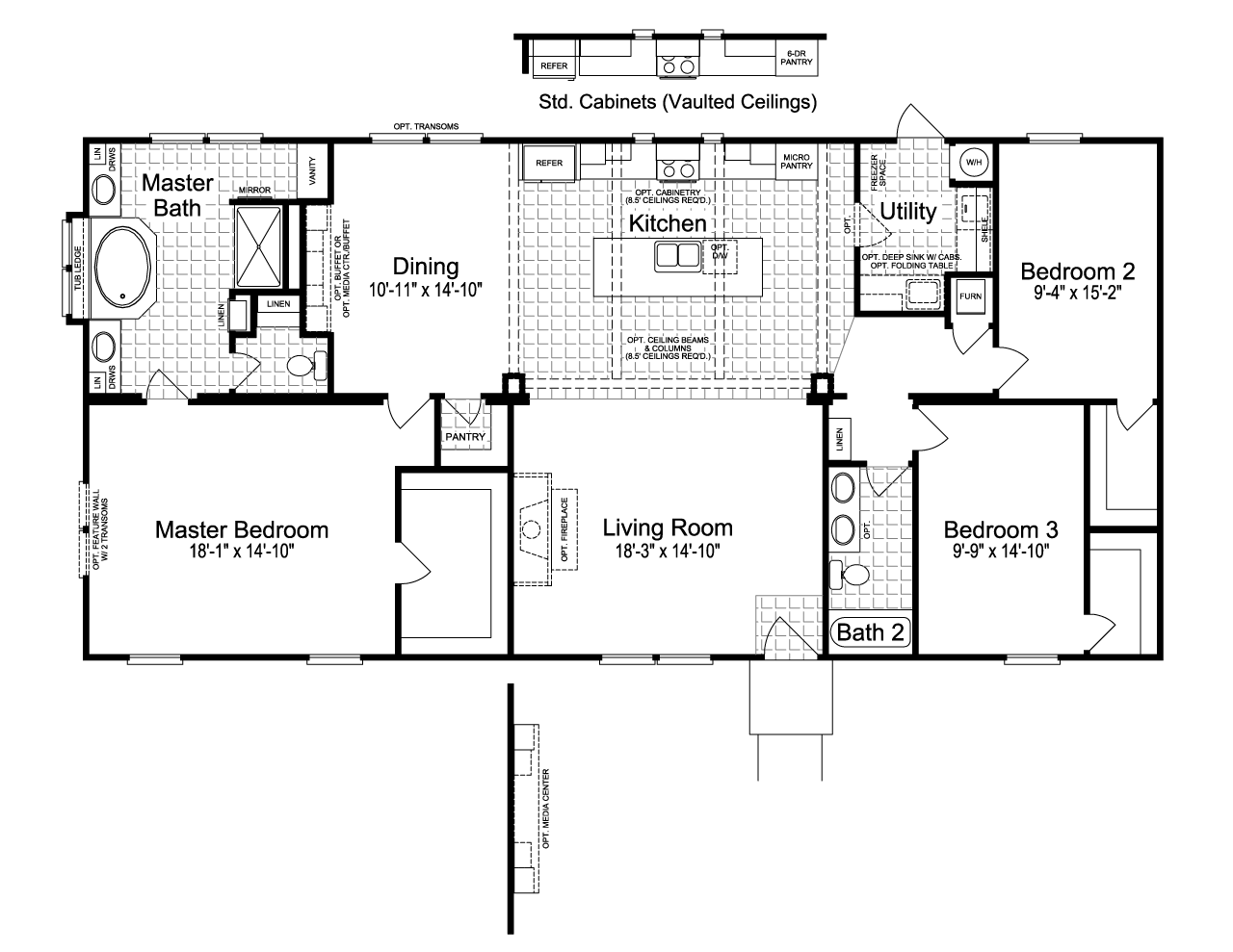 View The Sonora I Floor Plan For A 1984 Sq Ft Palm Harbor