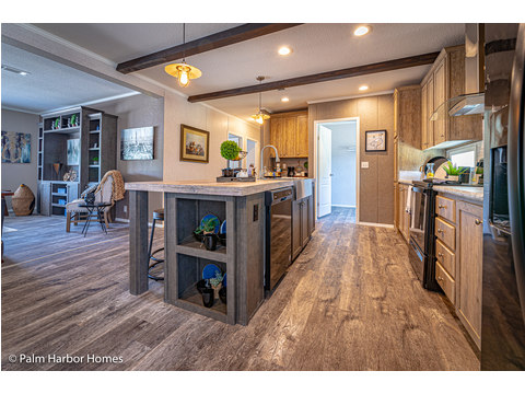 This kitchen has everything plus some! - The Kensington MLP356A6 or ML28563K by Palm Harbor Homes