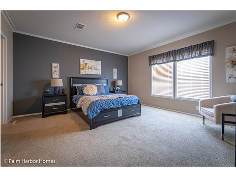 Spacious Master Bedroom with extra seating space! - The Kensington MLP356A6 or ML28563K by Palm Harbor Homes