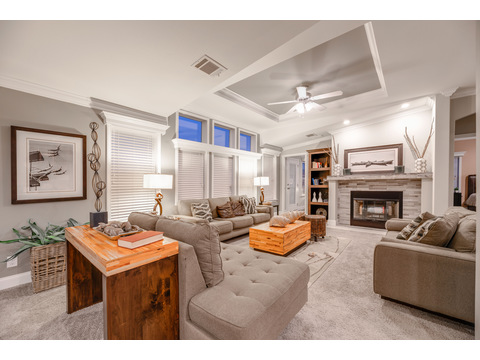 Tradewinds Living Room by Palm Harbor Homes - 4 Bedrooms, 3 Baths, 2595 Sq. Ft.