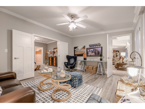 Sunroom inside the master suite, with convenient access to the great room - The Tradewinds by Palm Harbor Homes - 4 Bedrooms, 3 Baths, 2595 Sq. Ft.
