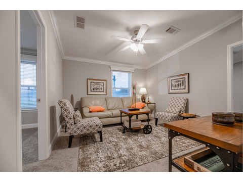 Activity room set between secondary bedrooms - The Tradewinds Home by Palm Harbor Homes - 4 Bedrooms, 3 Baths, 2595 Sq. Ft. - Triple Wide Manufactured Home
