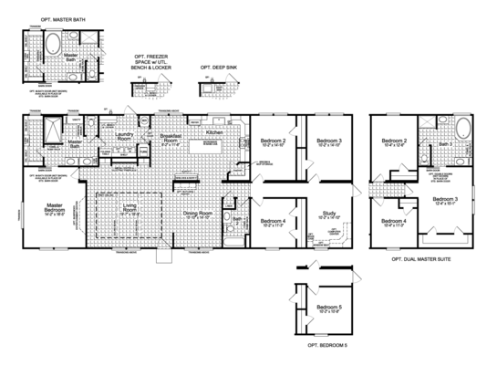 Floor Plan:The Vintage Farmhouse II FT32764H Floor Plan