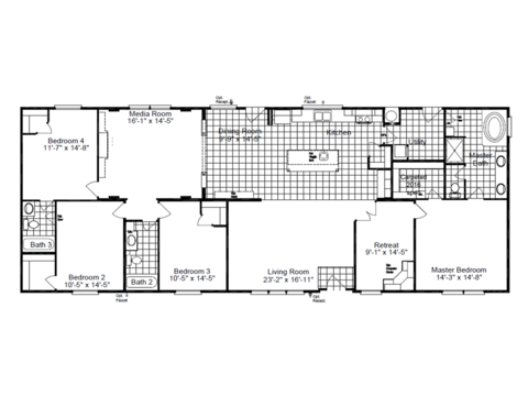 >The Landrace III MM30764L Floor Plan
