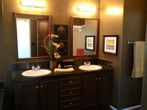 Beautiful overall setup in the master bathroom - The Appaloosa GLP356A1 by Palm Harbor Homes