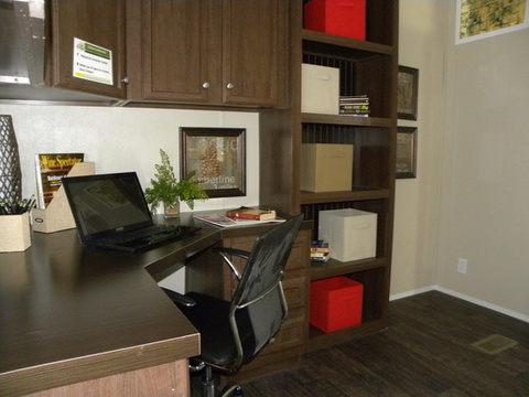 The office has plenty of space and is has a great setup for work or play with plenty of space for your computer and any other related technology - The Appaloosa GLP356A1 by Palm Harbor Homes