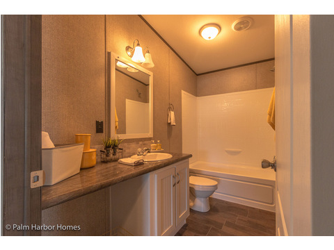 Second bathroom - The Carrington 76 Model ML30764C by Palm Harbor Homes