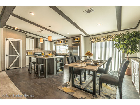 Kitchen and dining room - The Carrington 76 Model ML30764C by Palm Harbor Homes