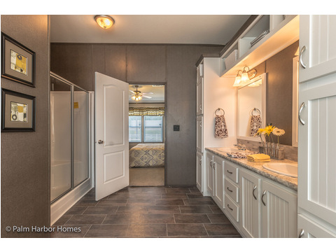 Master bath - The Carrington 76 Model ML30764C by Palm Harbor Homes