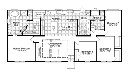 Floor Plan:The Canyon Bay I FT32684A Standard Floor Plan