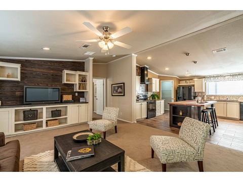 Welcome home! HUGE spacious living area in the Canyon Bay I Model FT32684A - 4 Bedrooms, 2 Baths, 2,108 Sq. Ft. manufactured home by Palm Harbor Homes