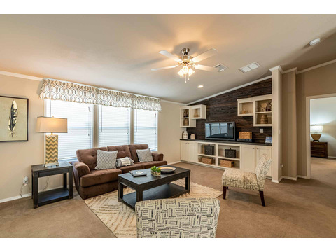 The main living area features large windows allowing lots of natural light - The Canyon Bay I HHT468G7 by Palm Harbor Homes