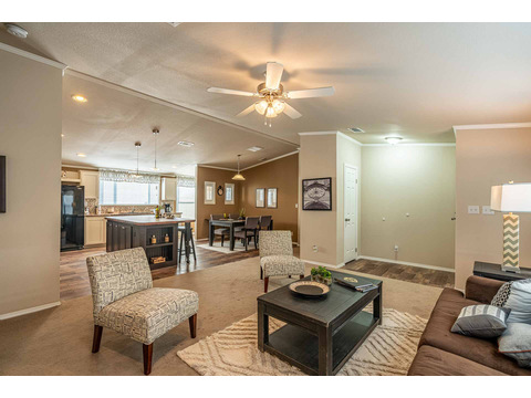 Living room in the Canyon Bay I Model FT32684A - 4 Bedrooms, 2 Baths, 2,108 Sq. Ft. manufactured home by Palm Harbor Homes
