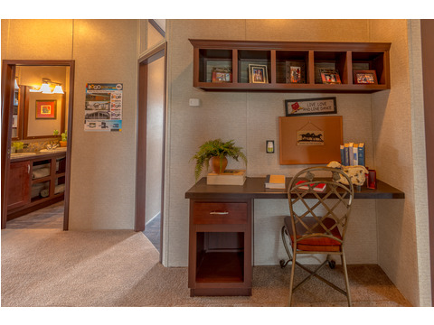 Love the handy desk area for mom, dad, kids or everyone built right into this hall area. Perfect control center for your home!