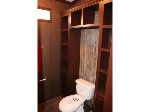 Lots of built in shelving in the master bath private commode room in the Homerun.  4 Bedrooms, 2 Baths, 2,160 Sq. Ft