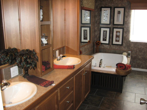 Master Bath  - The Pecan Valley IV KAT474A1 by Palm Harbor Homes