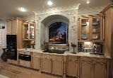 Center of the Universe Kitchen with arched window.