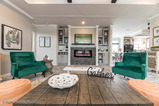 Living area in the Vintage Farmhouse Model FT32643C with 3 Bedrooms, 2 Baths and 1,984 Sq. Ft. Exterior Dimensions: 31 x 64. Other layouts available from Palm Harbor Homes. Austin TX