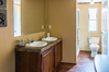 Master bath in the Velocity model 1623V single wide available form Palm Harbor Homes
