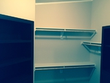 Double Rods, Custom Shelves, Canyon Bay II Walk In Closet