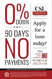 ZERO DOWN OR NO PAYMENTS FOR 90 DAYS!!