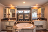 The master bathroom of the Sonora II by Palm Harbor Homes in Round Rock, TX