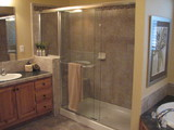 Huge Shower with tile bench