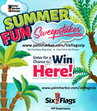 Come on out to register for a chance to win a VIP experience for 4 at Six Flags or Six Flags Fiesta Texas!  www.palmharbor.com/Sixflagsvip