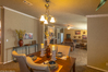 Formal dining room with living room in the background - The Bonanza Flex by Palm Harbor Homes