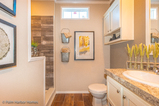 Great walk in shower in the master bedroom in the Santa Fe - See it for yourself - Call (512) 389-1210 for an appointment