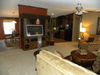 Living room has an OPTION to add a beautiful built in entertainment center - Model 32523P