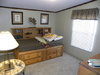 One of the guest bedrooms, almost as spacious as the master in the in our Model 32523P manufactured home with 3 Bedrooms, 2 Baths, 1560 Sq. Ft.
