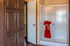 Large set of linen cabinets and a big walk-in shower. Model 32523P Manufactured Home available from Palm Harbor Homes at www.palmharbor.com