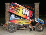Everybody loves a winner!  Spike Lang, Sprint Car racing and Palm Harbor homes!