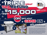 TRIPLE YOUR TAX REFUND & GET A GIANT TV & GRILL!