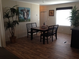 Spacious dining area with room for a large family dinner!