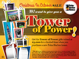 Palm Harbor in Donna wants to give you a TOWER OF POWER gifts worth $3000! Come by for our Christmas in October Sale and $ave THOU$AND$! (956) 461-4800