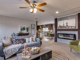 The Pecan Valley Oklahoma City OK - 3 Bedrooms, 2 Baths, 1,800 Sq. Ft. - Shown with optional fireplace