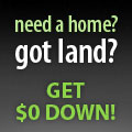 0 Down! Use your land as DOWN PAYMENT