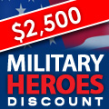 $2,500 Military Heroes Discount In South TX!