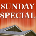 $2,500 Sunday Special!